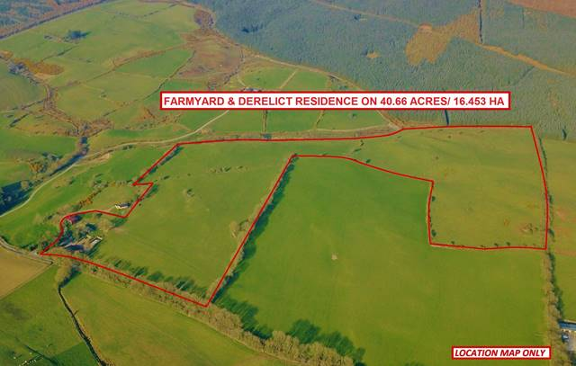 Farmyard & Derelict Residence On 40.66 Acres/ 16.453 Ha, Kilbaylet Lower, Donard, Co. Wicklow