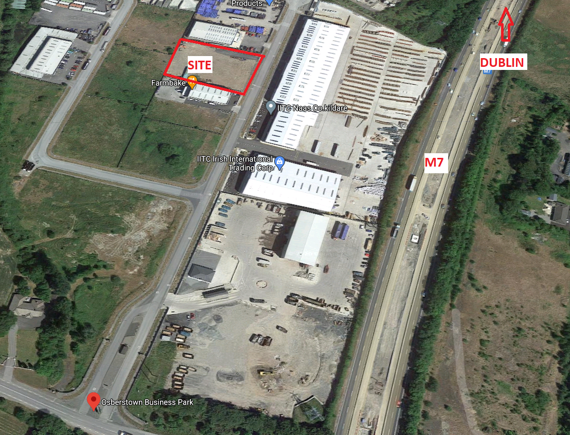 Fully Serviced Site on c. 1 acre/0.39 HA.,Osberstown Business Park, Caragh Road, Naas, Co. Kildare