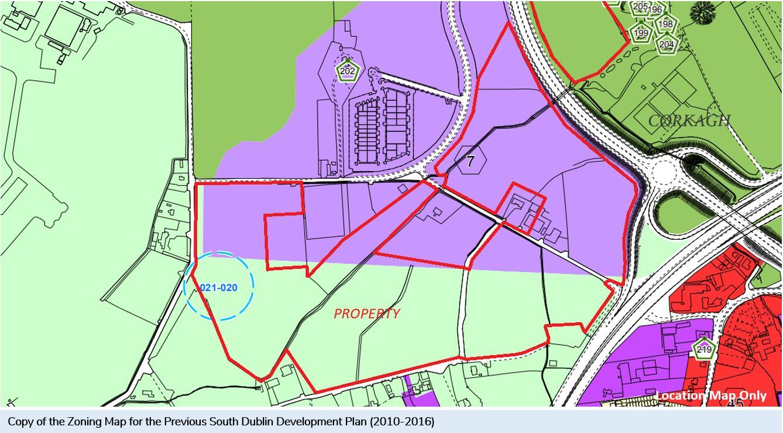 Landmark High-Profile Site C.88 Acres/35.6 Ha., Kingswood Cross, Naas Road, Kingswood, Dublin 22