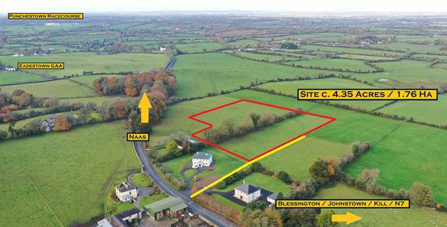Site C. 4.35 Acres/ 1.76 Ha., With Planning For Detached Bungalow. Eadestown, Naas, Co. Kildare