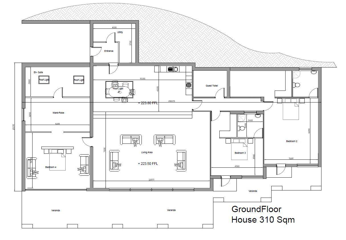 Bungalow On C. 6.7 Acres / 2.7 Ha., Carrig, Lacken, Blessington, Co. Wicklow