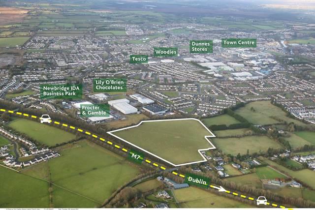 Approx. 23 acres (9.3 ha), Zoned Industrial & Warehousing, Newbridge, Co. Kildare