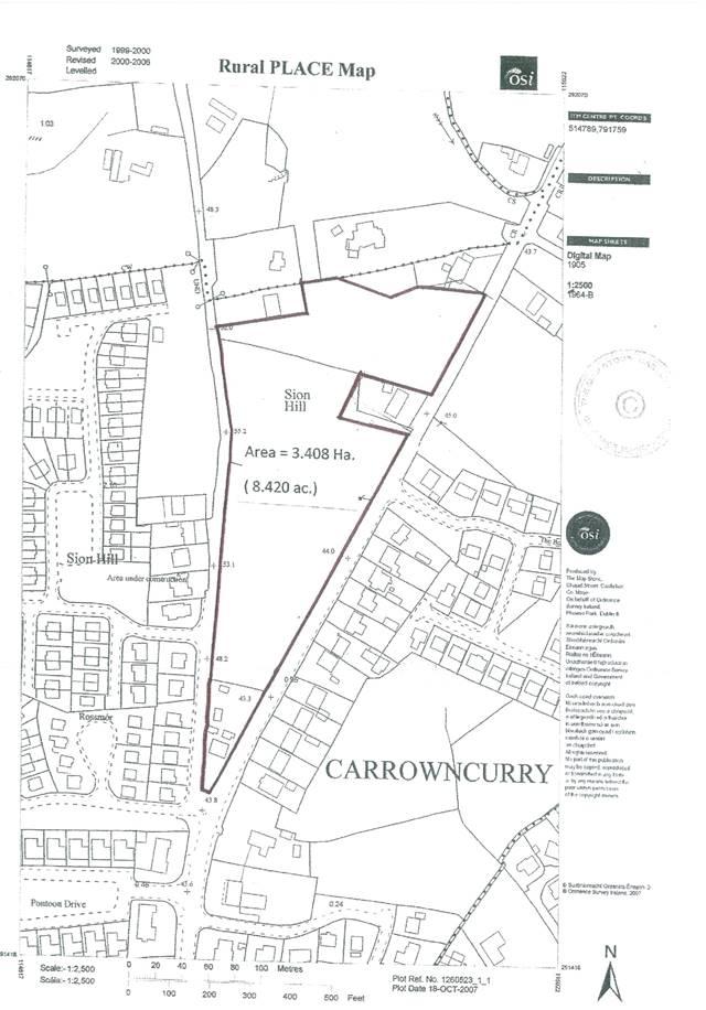 8.420 acres Prime Development Land , Pontoon Road, Castlebar, Co. Mayo