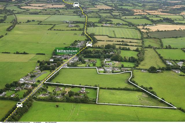 Approx. 18 acres, (7.28 ha) with development potential, Batterstown, Co. Meath