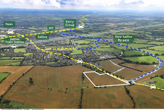 Approx. 10 acres Zoned for Industry and Warehousing, Clane Road, Sallins, Co. Kildare